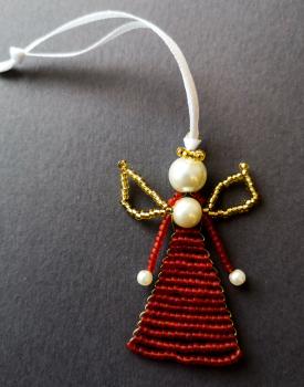 Pērļu eņģelītis - sarkans matēts